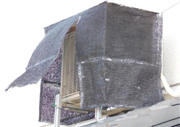 エアコンの電気代を節約する究極の室外機の遮光&遮熱ケース改良後の画像